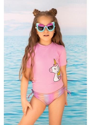 Katia & Bony Unicorn Desenli T-Shırt Kız Çocuk Mayo Takımı - Mix Lila